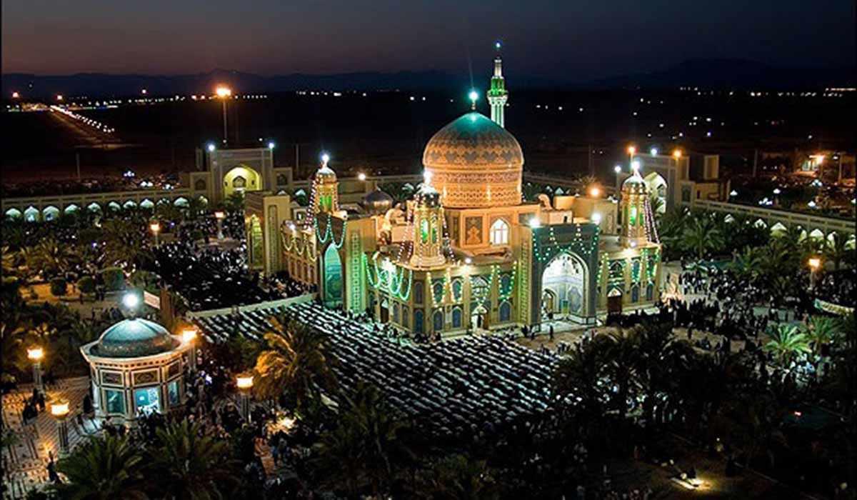 نمایی زیبا از آستان مبارک حضرت حسین ابن موسی (ع) طبس